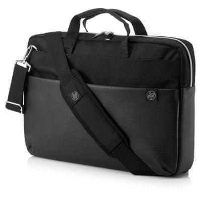 HP Pavilion Accent Briefcase 15 4QF95AA, černá / stříbrná