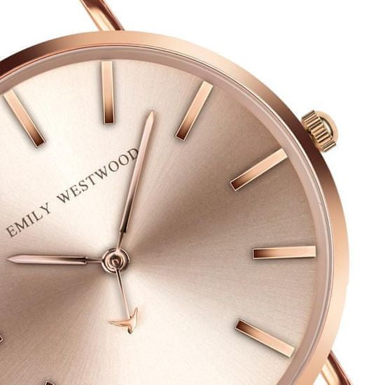 Emily Westwood American Praire Rose Gold Mesh Watch EBZ-3218