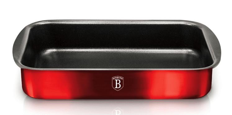 Pečící plech s titanovým povrchem Burgundy Metallic Line 35x27cm