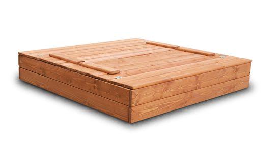 Goodjump Dřevěné Pískoviště 120x120 cm - barva týk