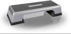 Gymstick Pro Step fitnes klop, sivo-črna