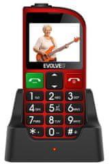 Evolveo EasyPhone FM, červený - rozbaleno