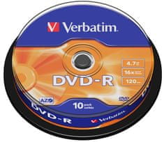Verbatim DVD-R medij 4,7 GB, 16x, 10 na osi (43498)
