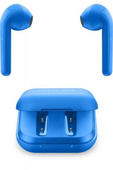 CellularLine True Wireless slúchadlá Java BTJAVATWSB, modrá - zánovné