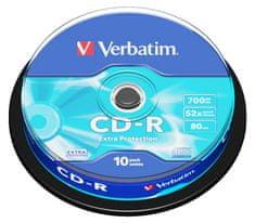 Verbatim CD-R 700MB, 52×, spindle 10 ks (43437)