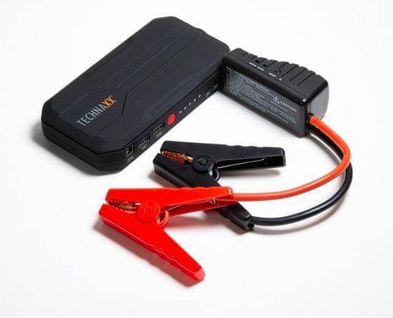 Technaxx Jump Starter, POWERBANK 3-v-1, 12000mAh, štartér, nabíjanie, svetlo, čierny TX-120 (4818)
