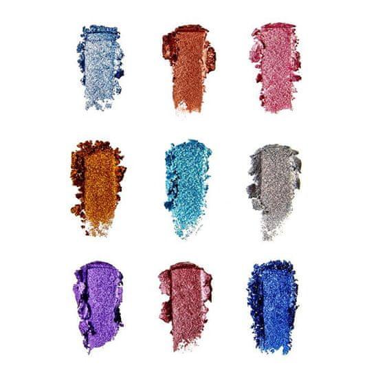 Makeup Revolution Žiariace paletky trblietok (Pressed Glitter Palette) 9 x 1,2 g