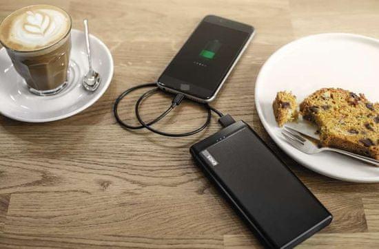Emos Alpha Q10 prenosna baterija, 10.000 mAh, črna