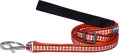 RED DINGO Fényvisszaverő póráz vörös dingo narancssárga 25mm