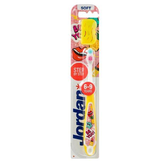 Jordan Step 3 Dětská zubní kartáček 6-9 let, žlutá, 1 ks