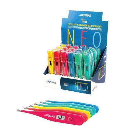 Novama NEO Digitalni termometer, kompletno pakiranje 24 kosov / 6 barv