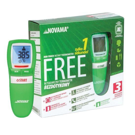 Novama INGYENES Második érintésmentes hőmérő, zöld