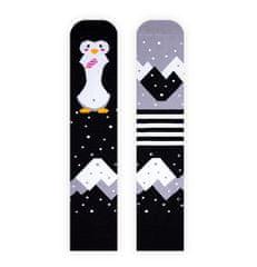 Nanushki Pinguin On Ice čarape, 40 - 43, crne/sive