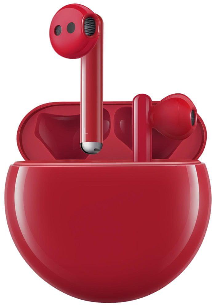 Huawei FreeBuds 3 55032452 bezdrátová sluchátka, červená