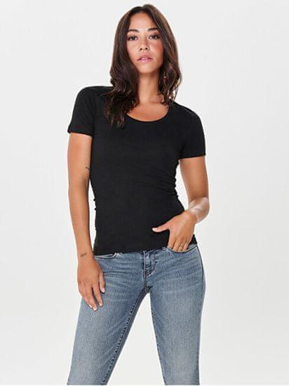 Jacqueline de Yong Ženska majica Ava 15161170 Black