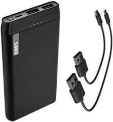 Emos Alpha 10S prenosna baterija, 10.000 mAh, črna