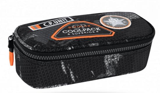CoolPack Penál Campus černý/oranžový
