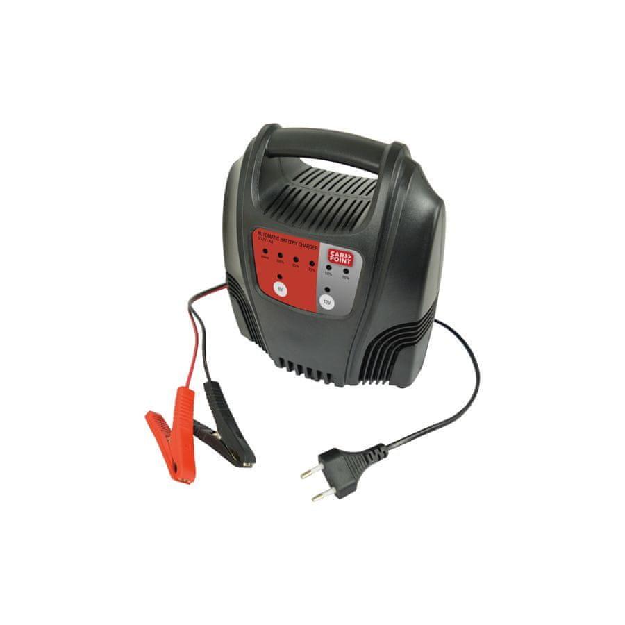 CarPoint Nabíječka autobaterií 6/12V 8A - s LED měřičem nabití