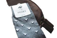 More Pánské ponožky MORE 051 tmavě modrá/linky 39/42