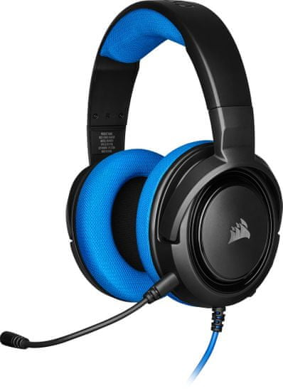 Corsair słuchawki HS35 Stereo, niebieski