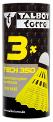Talbot Torro Tech 350 Fast set žogic za badminton, najlon, rumene, 3 kosi