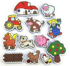 Teddies BABY Vodolepky Moje prvé zvieratká - farma
