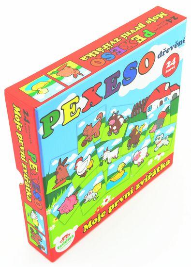 Teddies Pexeso Moje prvé zvieratká drevené 24 dielikov