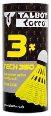 Talbot Torro Tech 350 Medium set žogic za badminton, najlon, rumene, 3 kosi