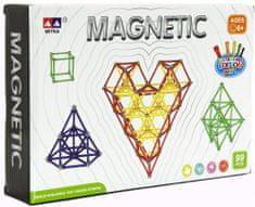 Teddies Magnetická stavebnice 99 ks