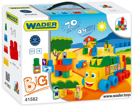 Wader Klocki Middle Blocks Big 70 elementów