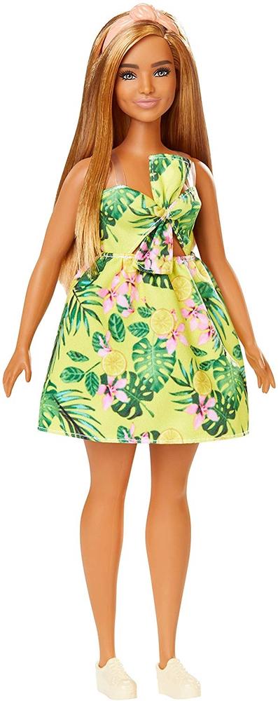 Mattel Barbie Modelka 126 - Žluté letní šaty