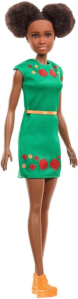 Mattel Barbie Nikki zelené šaty