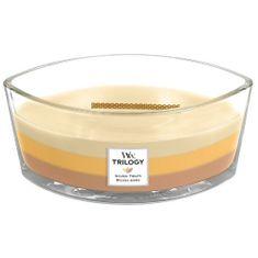 Woodwick vonná svíčka Golden Treats Trilogy (Zlaté lahůdky) 453 g