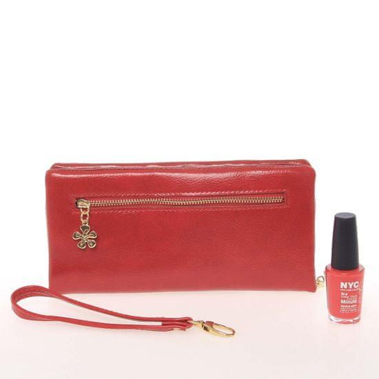 Lorenti Dámská peněženka se zipem Milano Design, červená
