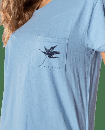 Rip Curl dámské tričko Minimalist Wave Tee M modrá