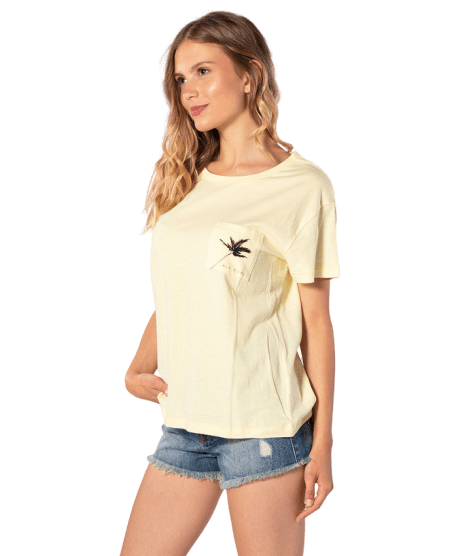 Rip Curl dámské tričko Minimalist Wave Tee L žlutá