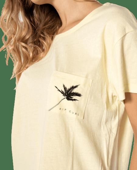 Rip Curl dámské tričko Minimalist Wave Tee XL žlutá