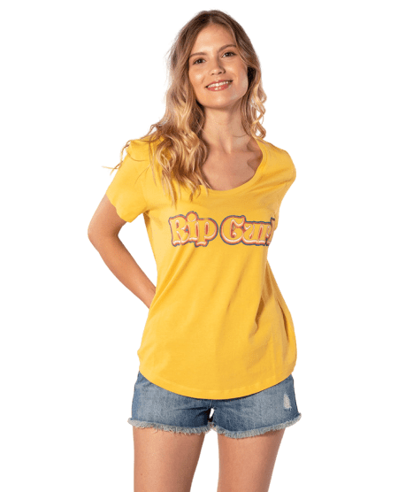 Rip Curl dámské tričko Big Mama Tee M žlutá