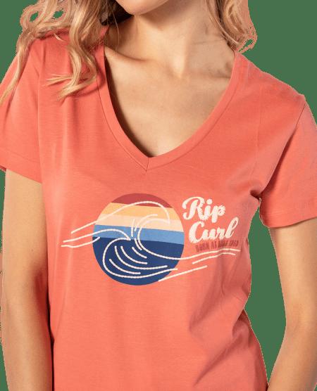 Rip Curl dámské tričko The Wave Tee L oranžová