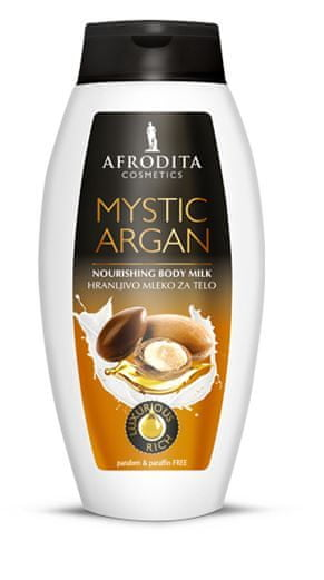 Kozmetika Afrodita Mystic Argan mleko za telo, 250 ml