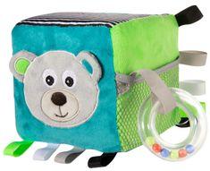 Canpol babies Plyšová senzorická kostka Medvídci šedá