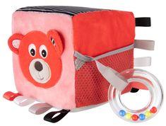 Canpol babies kostka sensoryczna, pluszowy czerwony Miś