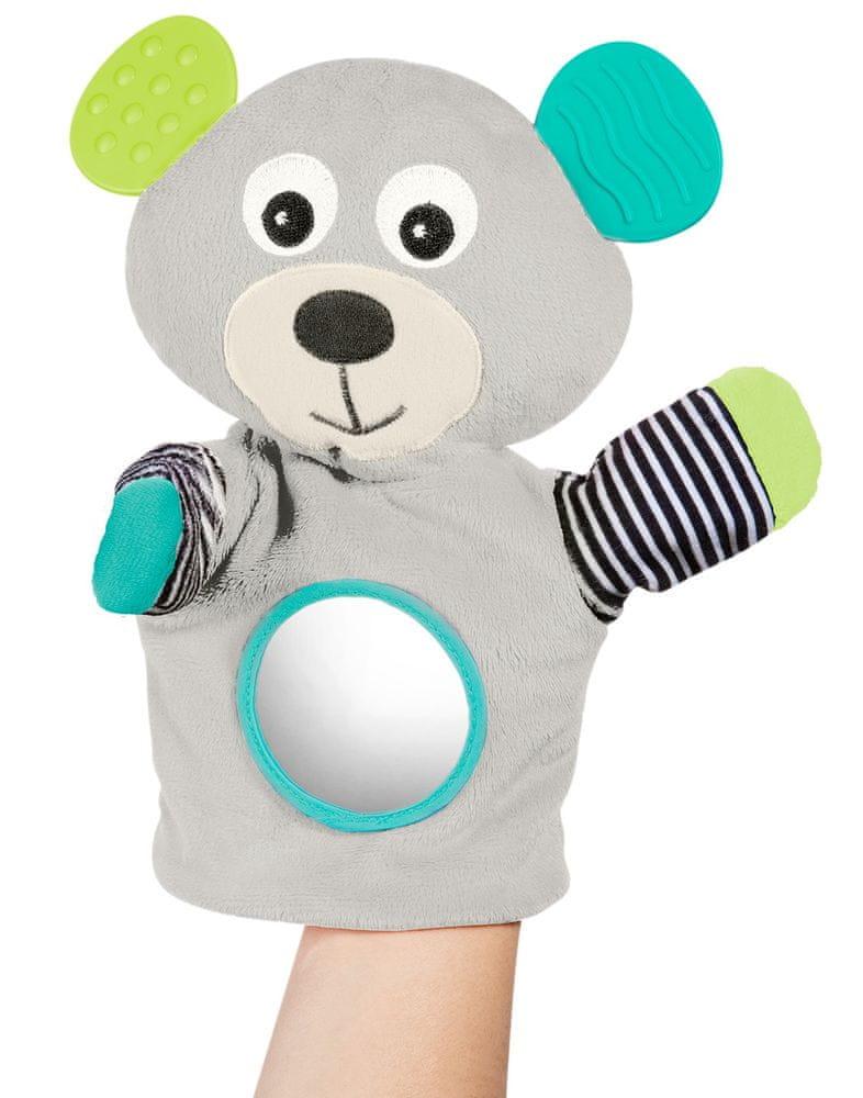 Canpol babies Plyšový maňásek s kousátkem Medvídci šedý