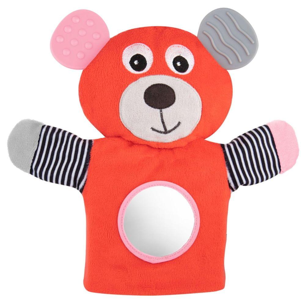 Canpol babies Plyšový maňásek s kousátkem Medvídci červený