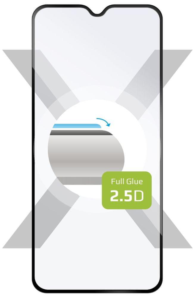 Fixed Ochranné tvrzené sklo Full-Cover pro Motorola One Macro FIXGFA-493-BK, lepení přes celý displej, černé