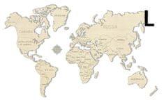 Wooden city Mapa světa L