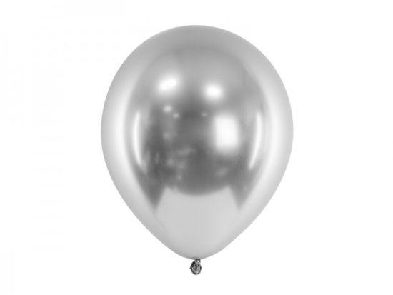 Paris Dekorace Balónek chromový stříbrný, 30 cm