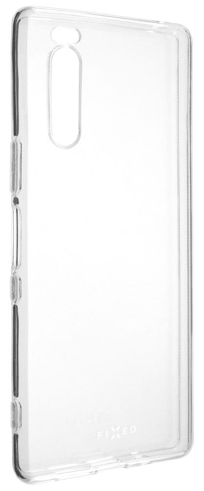FIXED Ultratenké TPU gelové pouzdro Skin pro Sony Xperia 5 FIXTCS-468, čiré