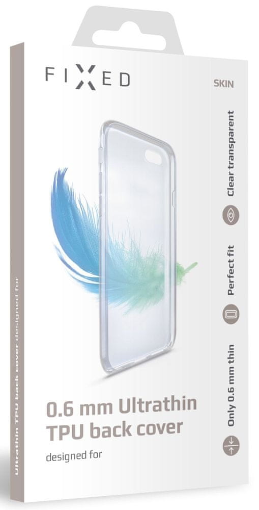 FIXED Ultratenké TPU gelové pouzdro Skin pro Motorola Moto E6 Play FIXTCS-480, čiré