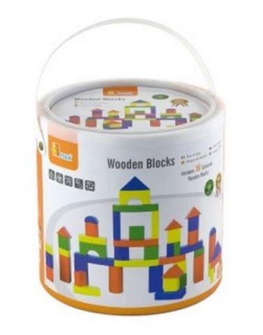 Lamps Dřevěná stavebnice 50 kostek